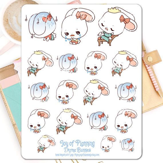 Sad planner stickers planning emotion stickers by JoyofPlanning
