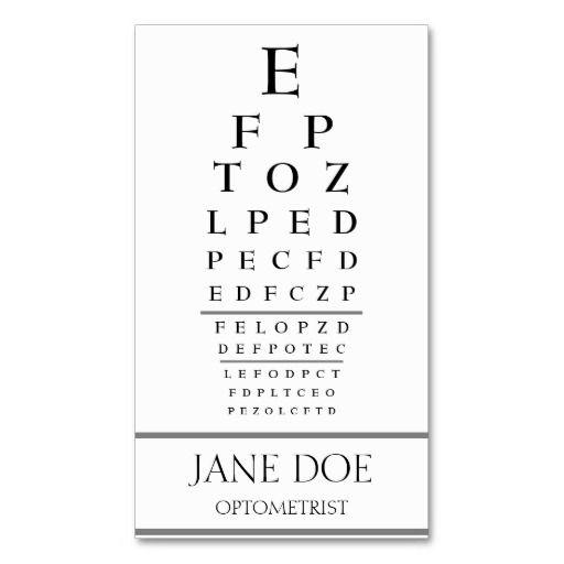 270 best Eye Doctor Business Cards images on Pinterest Eye - eye chart template