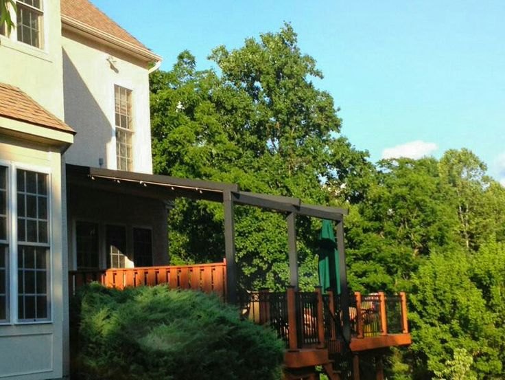 American Awning Revolution In Valley Forge, PA GENIUS Pergola Awning.  Windproof, Rain Proof. Retractable ...