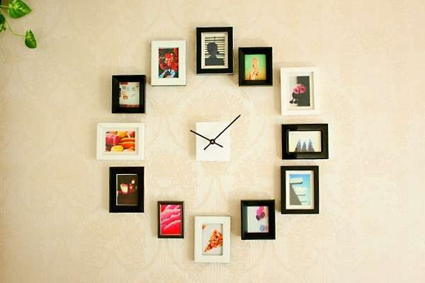 Orologi a parete fai da te - Orologio con le foto