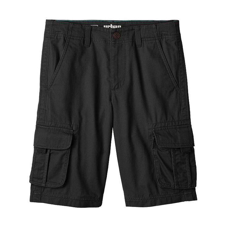 Boys 8-20 Urban Pipeline® Twill Messenger Cargo Shorts, Black