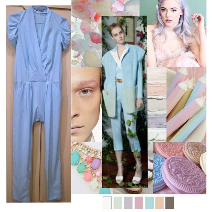 Light blue Osley suit for romantic look in Spring Summer  2016 only 10 euro  ------- Tuta azzurro pastello Osley per un look romantico in Primavera Estate 2016. A soli 10 €.     #moda #fashion #sping2016 #summer2016 #primavera2016 #estate2016 #trend #outfit #sale #shopping #dress #tuta #pantaloni #suit #azzurro #celeste #pastello