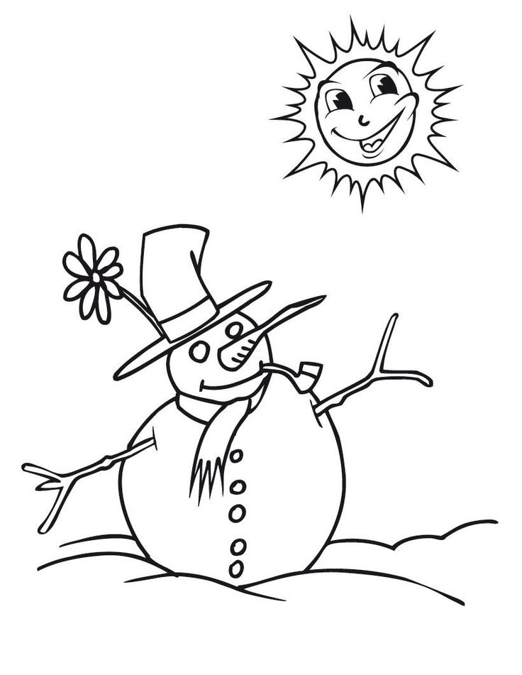 13 best Winter Coloring Pages images on Pinterest Free printable - best of coloring pages fall and winter