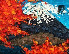 """Tablou in ulei """"Muntele Fuji"""""""