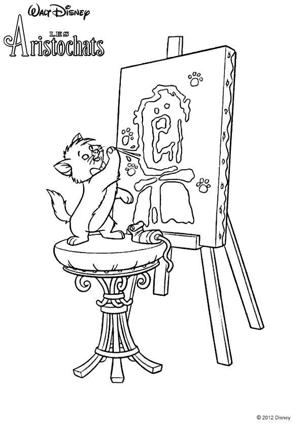 Taloo painting. Disney's Aristocats