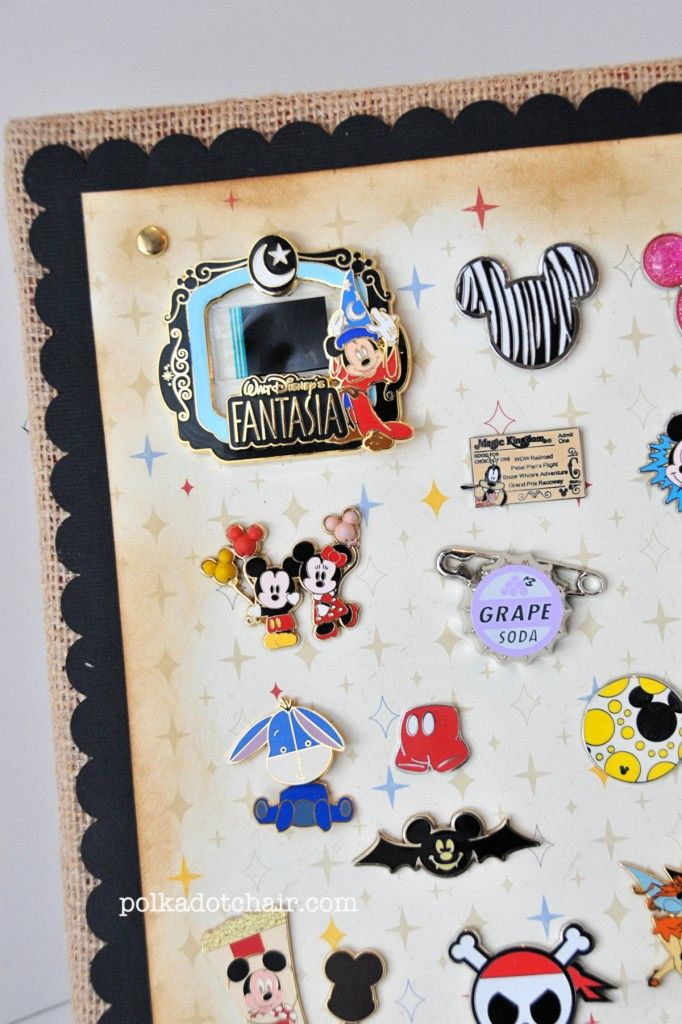 DIY Disney Pin Display Ideas - Fun way to remember the fun you had on your family vacation!