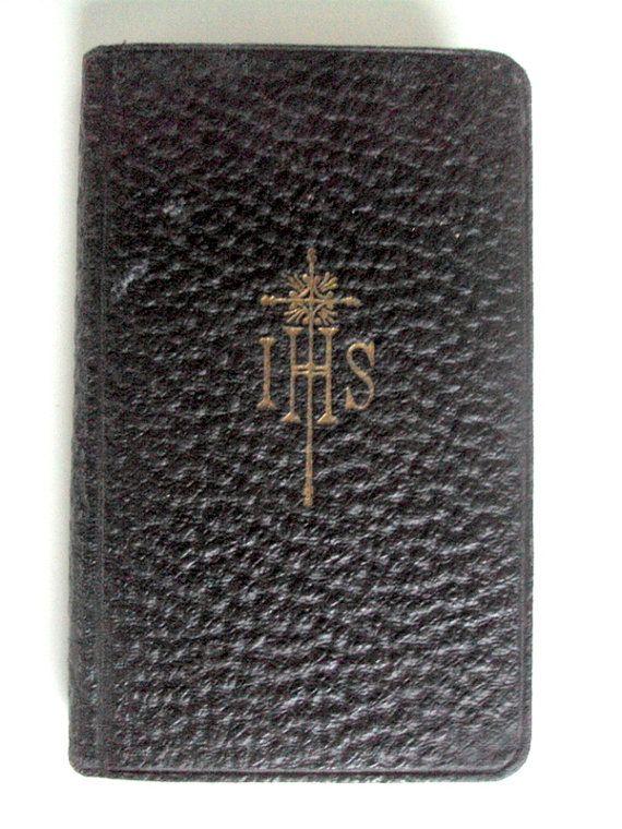 Vintage Antique,Catholic Daily Devotions Manual,1915 Belgium,Patrick Cardinal Hayes,Arthur Scanlon,Leather  Pocket Edition,Approved Sources
