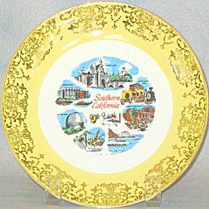Southern California souvenir plate: Southern California, California Pottery, Commemorative Plates