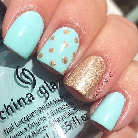 13 best cute nail art images on pinterest nail arts creativity easy blue nail designs prinsesfo Images