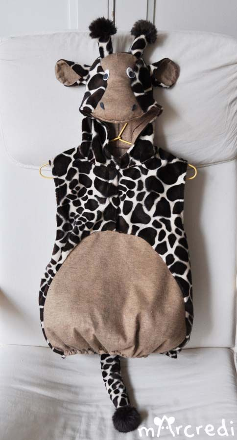 costume de girafe marcredi