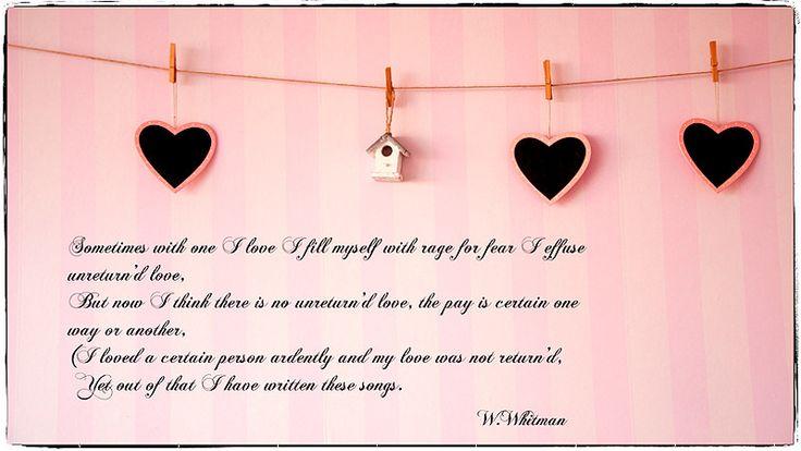 Czasem, gdy kogoś kocham/Sometimes with One I Love -Walt Whitman | by smoothna