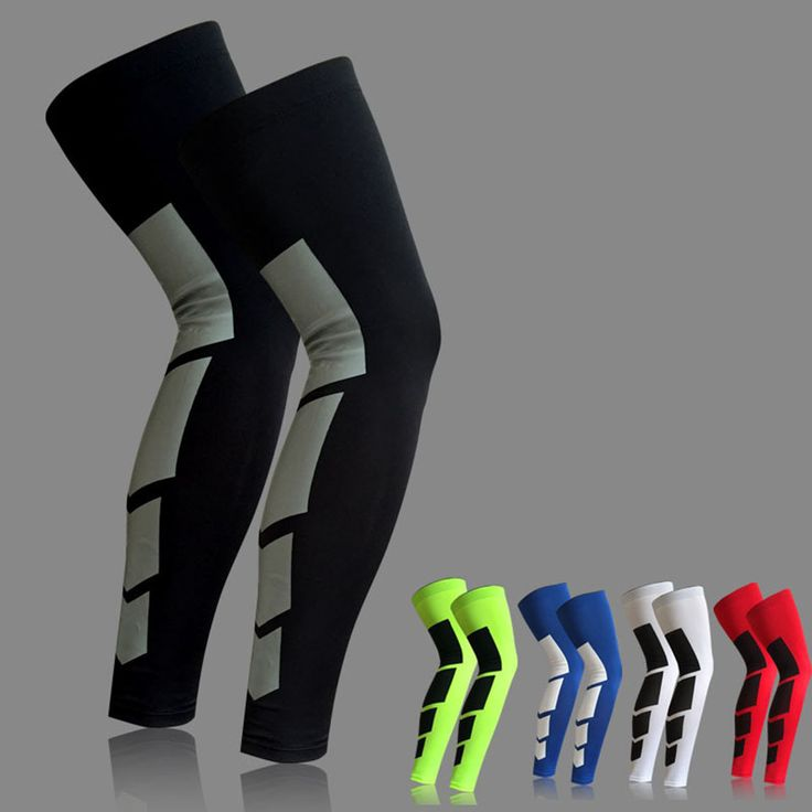 1PCS Super Elastic Lycra Basketball Leg Warmers Calf Thigh Compression Sleeves Knee Brace Soccer Volleyball Cycling *** Find out more by clicking the VISIT button