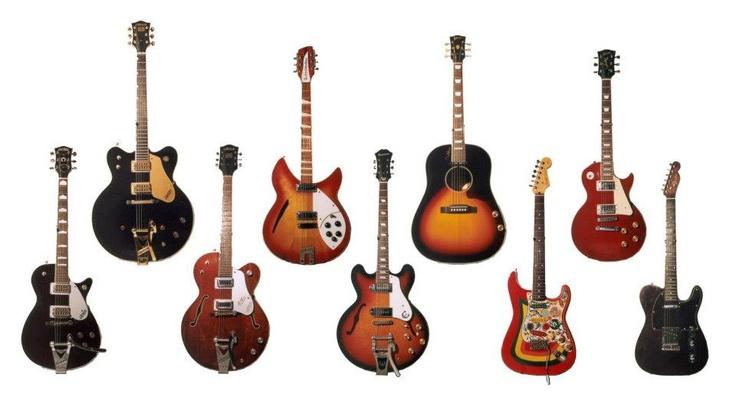 George Harrison's guitars | Classic Rock Guitars | Pinterest