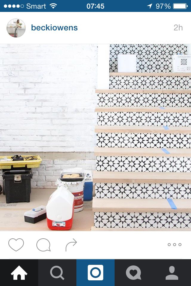 Stairs and tile combo