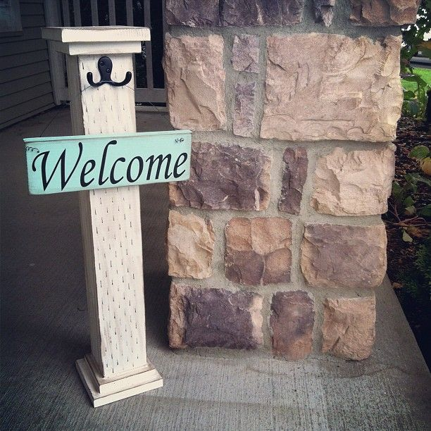 17 best ideas about welcome post on pinterest 4x4 crafts for Decoration 4x4