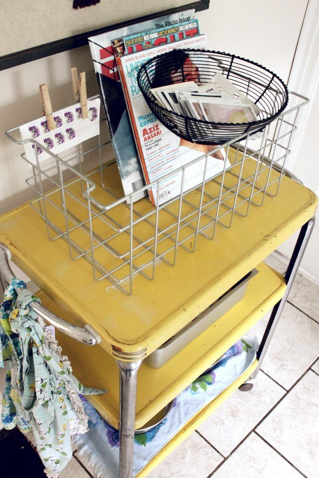 EVERY year...during garage sale season...and every time I go into a Goodwill...THIS yellow cart...is what I'm looking for!!!!!!!! I WILL have one...one day!!!