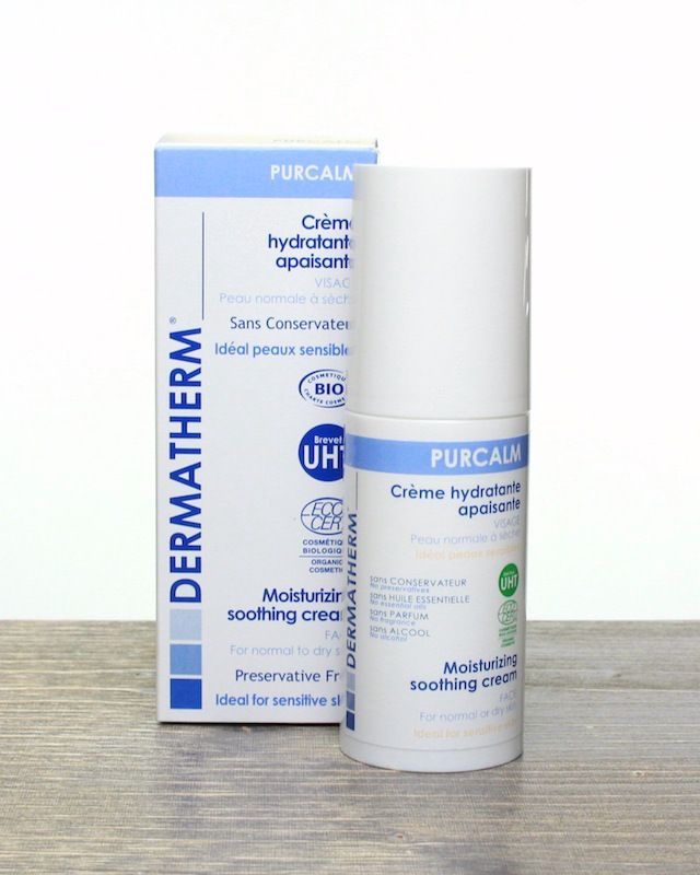 This is an excellent organic moisturizer from France: Dermatherm Purcalm Moisturizing Soothing Cream