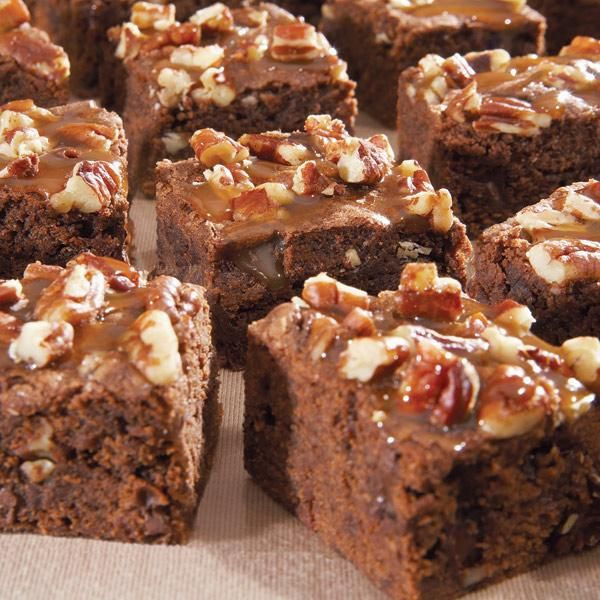How to make Caramel Pecan Brownies.