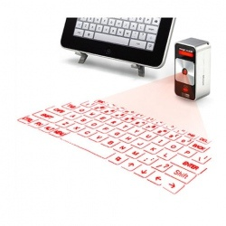 Magic Cube Laser Projection Keyboard and Touchpad for iPhone 4S, iPhone 4, iPhone  3G/3GS, iPad, Cell Phones, ect (Silver)