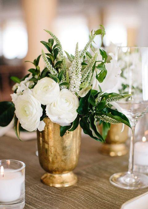 36 Ways To Add Gold To Your Fall Wedding | HappyWedd.com