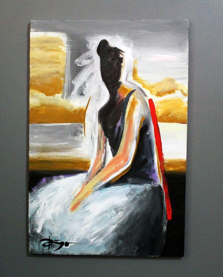 Bailarina. Acrílica sobre tela.  Artista: Diego Olivera