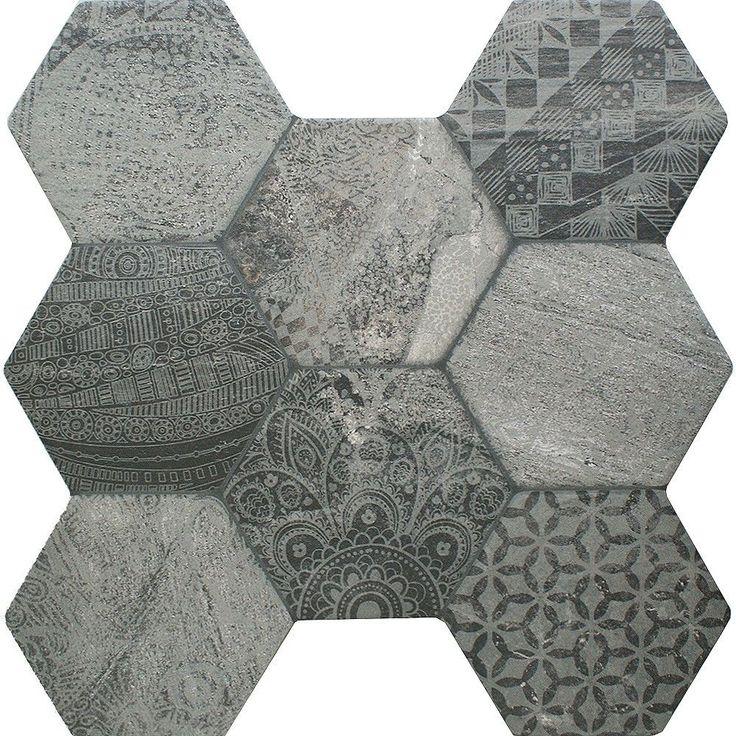 Tribal Stone Tiles Ruvido Hexagon Tiles 450x450x9mm Tiles