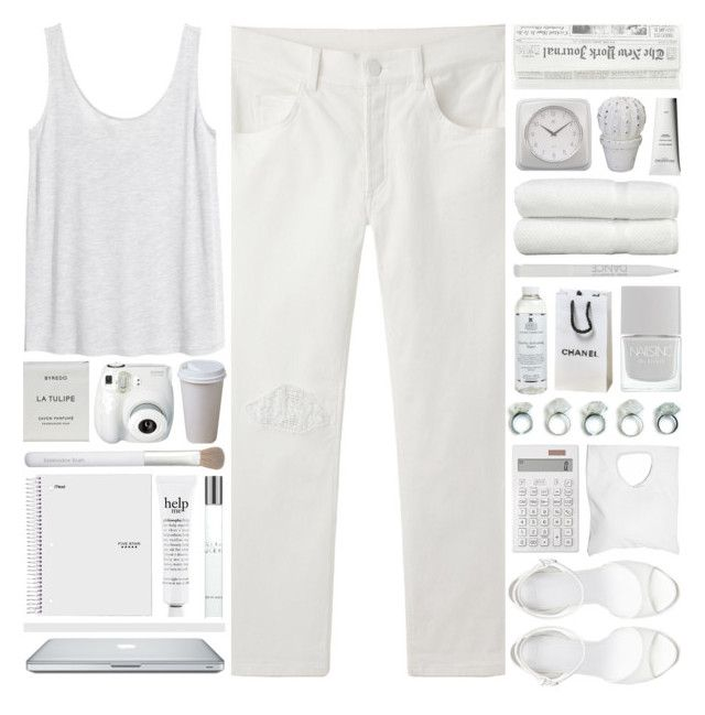 """""""Starting College (Advice?)- Lost"""" by heartart ❤ liked on Polyvore featuring Zara, H&M, Muji, Jennifer Haley, Kiehl's, Sachajuan, Linum Home Textiles, Infinity Instruments, Byredo and Sonia Kashuk"""