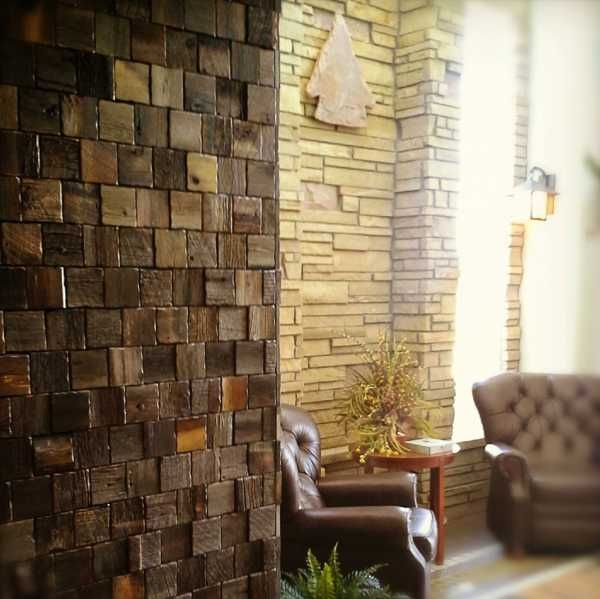 Wall Decoration Ideas Stone : Reclaimed wood wall tiles modern decorating ideas