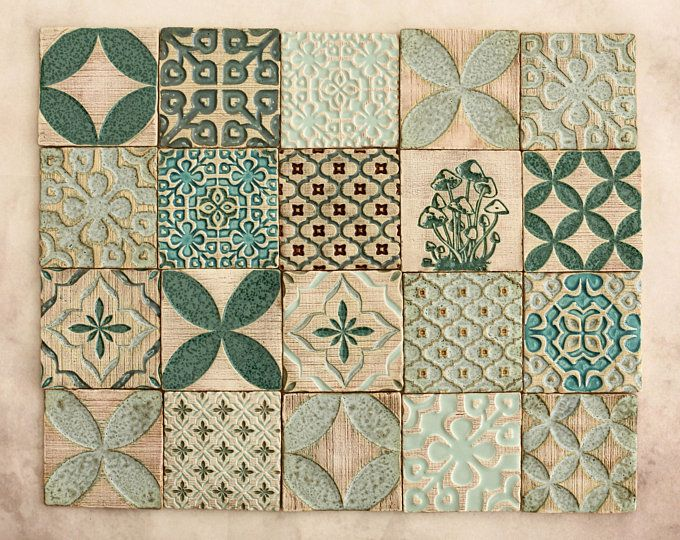 Fatti a mano in ceramica rustici piastrelle multicolori per