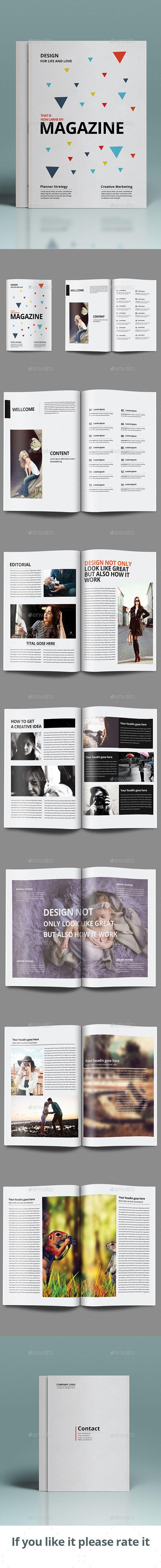 Clean Magazine Template #design #journal Download: http://graphicriver.net/item/clean-magazine-template/10827937?ref=ksioks