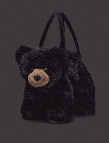 Bearington Collection Take Along Totes Adorable plush black bear purse. Perfect for ages 3 and up.