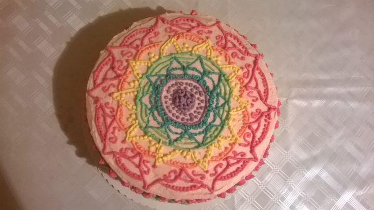 Rainbow Mandala torta