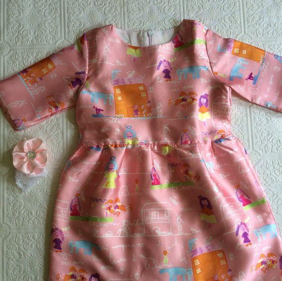 Pink fall dress girl dress fall dress back to school by BazzyBears