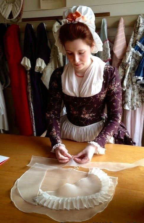 Working hard at Margaret hunters shop colonial Williamsburg