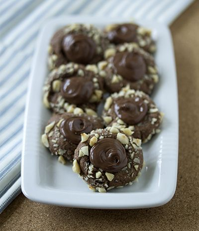 Nutella thumbprint cookies | Cooking | Pinterest