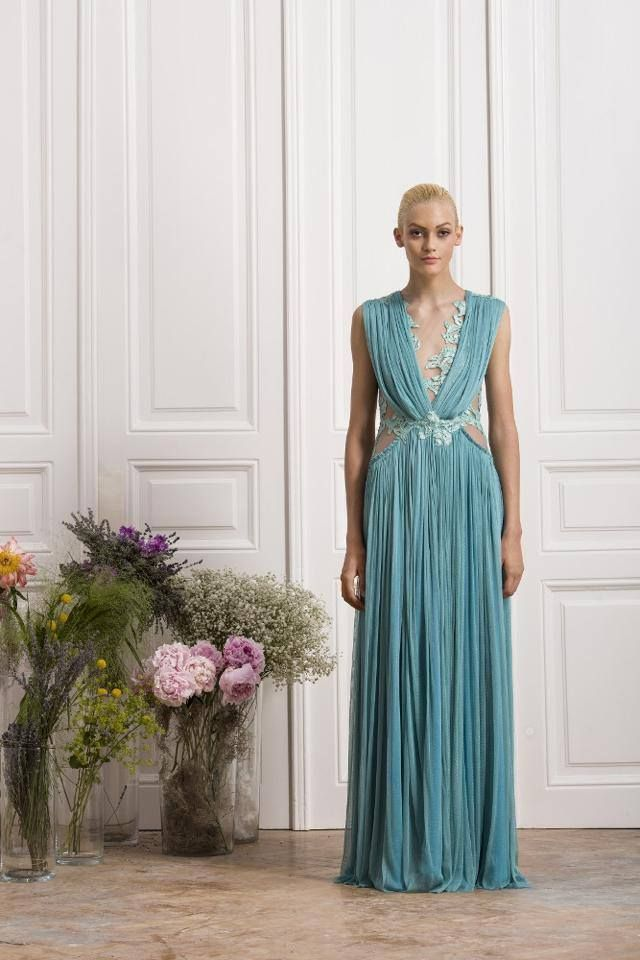 Silk tulle  SS2014 gown
