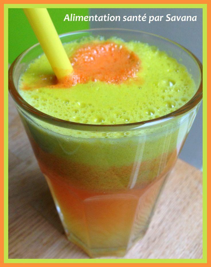Mon jus détox délicieux.  Recette : pomme, carotte, citron, gingembre, curcuma.  Pour un grand verre 1 pomme, 3 carotte, 1/2 citron 1 c à c de gingembre frais et 1 c à c de curcuma frais.