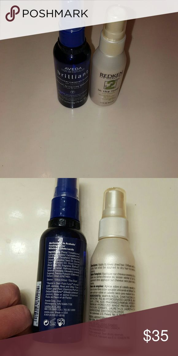 New Aveda & Redken Hair products Aveda Brillant Emollient Finishing Gloss 2.5 fl oz Redken In the Loop Curl Booster 1.7 fl oz Aveda & Redken Other