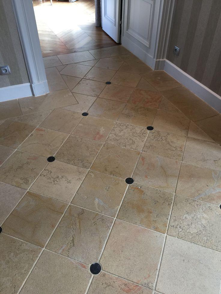 1000 id es propos de sol en pierre sur pinterest for Carrelage blanc 40x40