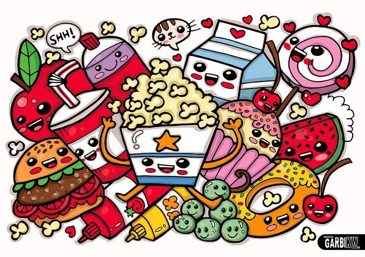 comida kawaii by garbi kw web dany Pinterest