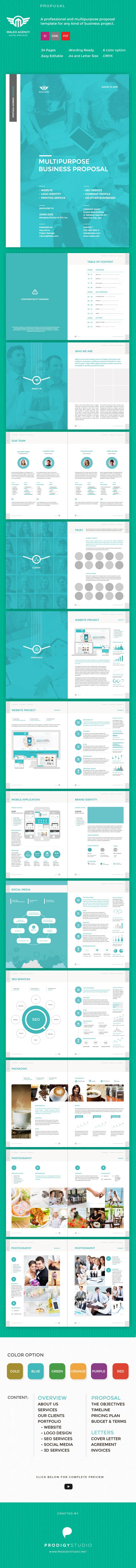 Maleo Proposal is clean layout and professional design, best choice for your project proposal.  Download here: http://graphicriver.net/item/maleo-multi-purpose-proposal-template/7562638?ref=prodigystudio