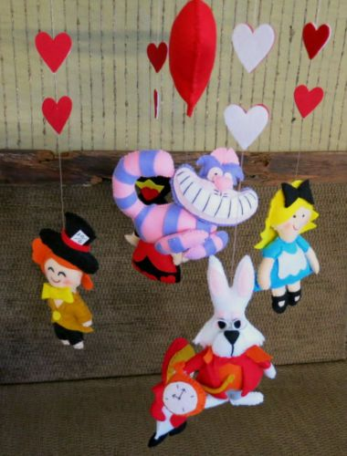 Baby-Mobile-Alice-In-Wonderland-Mobile-Hatter-Alice-Rabbit-Cheshire-Cat