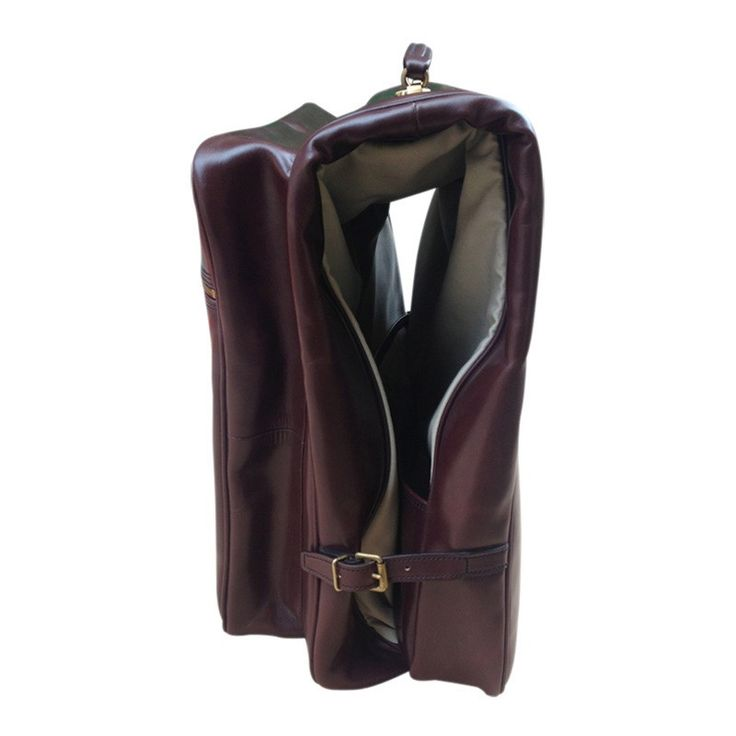 """Burlington"" Suit Carrier in Havana Bridle Leather - Large Size - Bespoke-England"