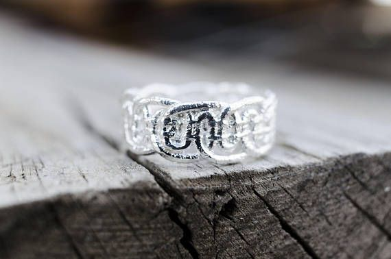 Lace Ring, Valentine's Gift, Silver Plated Jewelry, Romantic Jewelry, Dainty Ring, Statement Ring, Lace Jewelry, Cast Lace, Ready to Ship