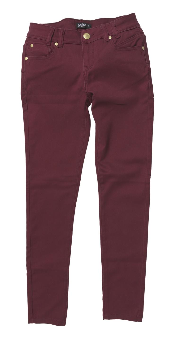 Burgundy Stretch Jeans