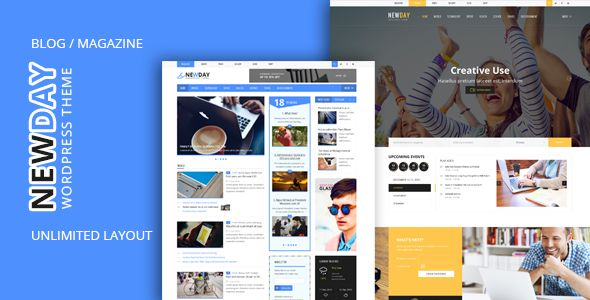 NewDay - News & Magazine WordPress Theme