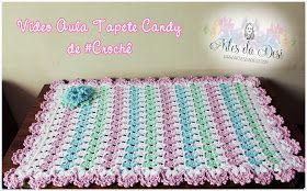 Vídeo aula Tapete Candy de Crochê  (Ponto pé de Galinha)