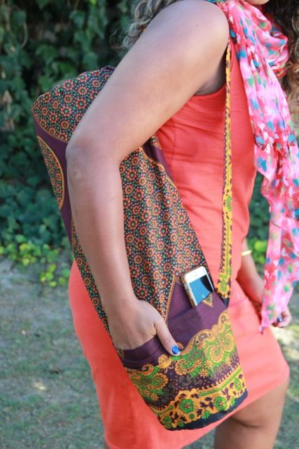 Yoga mat bag with pockets for phone/keys/water bottle :)