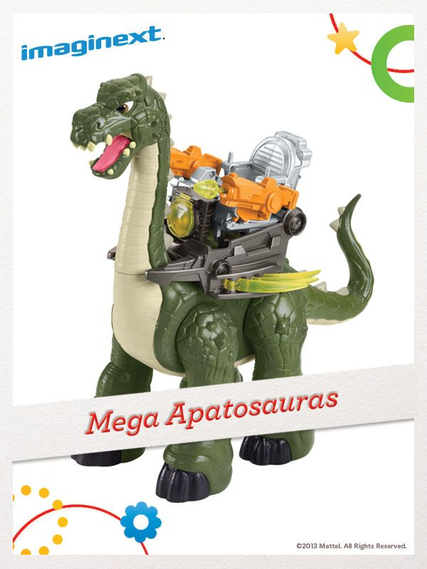 Their imaginations will reach new heights with the Imaginext Mega Apatosauras. For a chance to win, click here: http://fpfami.ly/014ez #FisherPrice #Toys