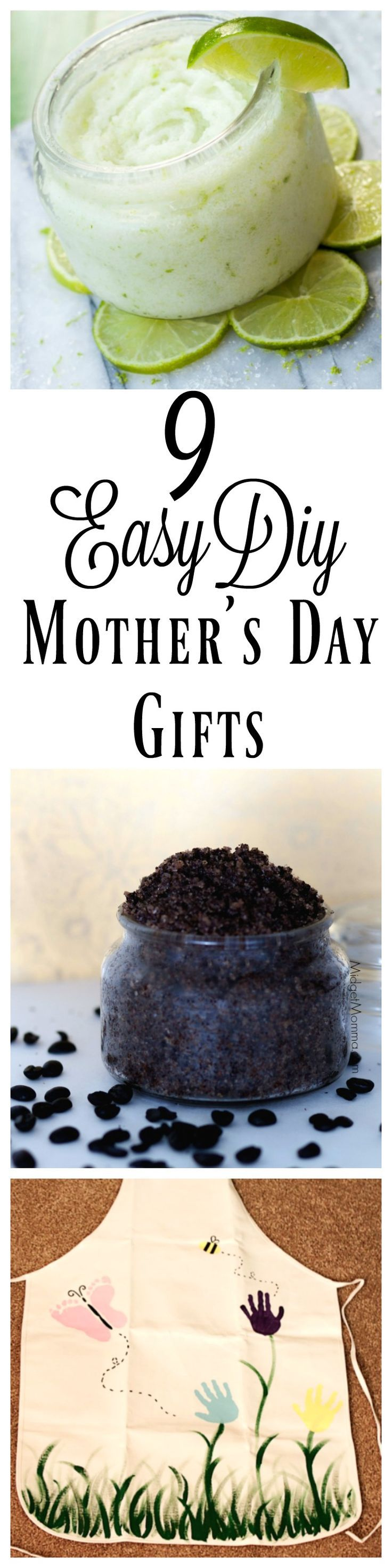 These 9 easy DIY Mother's Day gifts are ones Mom will love! Personalized Mother's Day gifts that the kids can make for Mom with just a little bit of help!